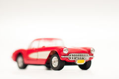 Vintage red muscle car Stock Photo