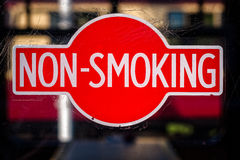 Vintage Red Non Smoking Sign Royalty Free Stock Photo