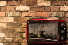 Vintage red oven Stock Photo