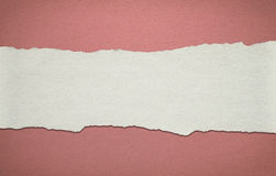 Vintage red paper background with white torn stripe Stock Photo