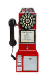 Vintage Red Pay Phone