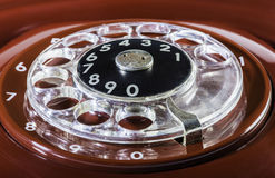 Vintage red phone digits Royalty Free Stock Photos