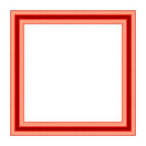Vintage red picture frame Stock Photography