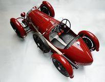Vintage red racing car. A view from behind Stock Image