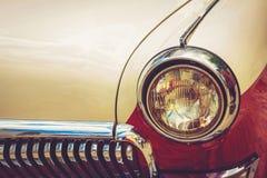 Vintage red retro automobile Royalty Free Stock Photos