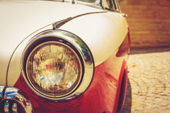 Vintage red retro automobile Royalty Free Stock Images