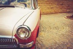 Vintage red retro automobile Stock Photography