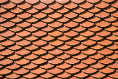 Red roof tile pattern background Stock Photos