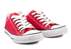 Vintage red shoes Royalty Free Stock Images