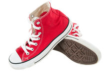 Vintage red shoes classic pose Royalty Free Stock Photo