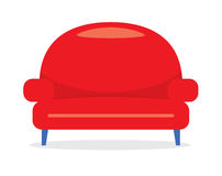Vintage Red Sofa Stock Photography