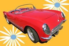 Vintage Red Sport Car. Transport, Vintage Red Sport Car 70's Stock Photography
