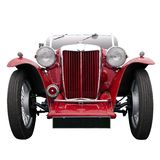 Vintage red sports car Royalty Free Stock Photo