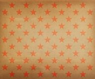 Vintage red stars pattern Royalty Free Stock Image