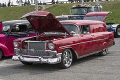 Vintage red station wagon Stock Image