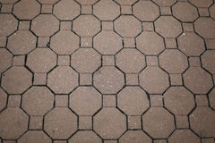 Vintage red stone street road pavement texture Stock Photos