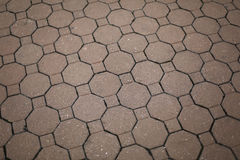 Vintage red stone street road pavement texture Royalty Free Stock Photo