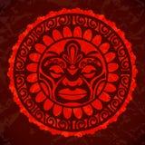 Vintage red sun. Vector illustration. Vintage sun in old style. Vector illustration Stock Illustration