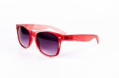 Vintage red sunglasses Stock Photos