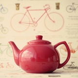 Vintage red teapot Royalty Free Stock Photo
