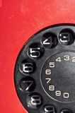 Vintage red telephone stock photography