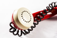 Phone speaker with wire Stock Photo