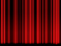 Vintage red theatre curtain Stock Photography