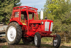 Vintage red tractor Royalty Free Stock Images
