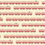 Vintage red tram pattern Stock Photo