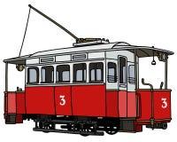 Vintage red tramway Stock Image