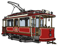 Vintage red tramway Stock Images