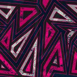 Vintage red triangle seamless pattern with grunge effect Stock Photos