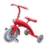 Vintage red tricycle Royalty Free Stock Photos