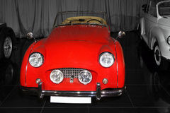 Vintage red Triumph TR3A Stock Photos