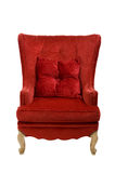 Vintage red velvet chair royalty free stock images
