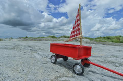 Vintage Red Wagon Toy Royalty Free Stock Images