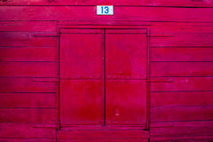 Vintage red window Stock Photography