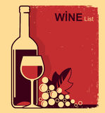 Vintage red wine list background for text Royalty Free Stock Photo