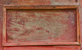Vintage red wood sideboard door Royalty Free Stock Photos