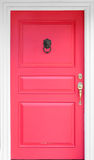 Vintage red wooden door Stock Photo