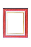 Vintage Red Wooden Picture Frame. Stock Images