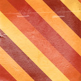 Vintage red yellow striped paper background Royalty Free Stock Images