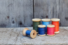 Vintage reel of thread Stock Image