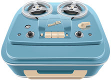 Vintage reel-to-reel audio tape recorder Royalty Free Stock Images
