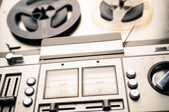 Vintage reel to reel player and recorder Royalty Free Stock Photography