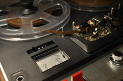 Vintage reel-to-reel recorder Stock Images