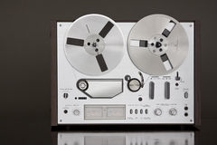 Vintage Reel-to-Reel stereo tape deck recorder Royalty Free Stock Photography