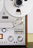 Vintage reel-to-reel tape recorder deck Stock Image