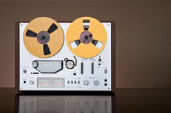 Vintage reel-to-reel tape recorder deck Royalty Free Stock Photography