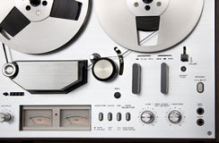 Vintage reel-to-reel tape recorder deck Stock Images